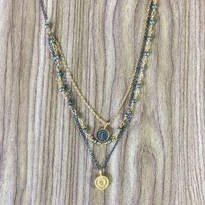 Satya Jewelry Gunmetal & Gold Celestial Necklace